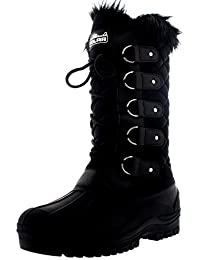 80d18f7eee0 Polarr Polar Womens Tall Quilted Snow Tactical Mountain Waterproof Knee High  Walking Boots