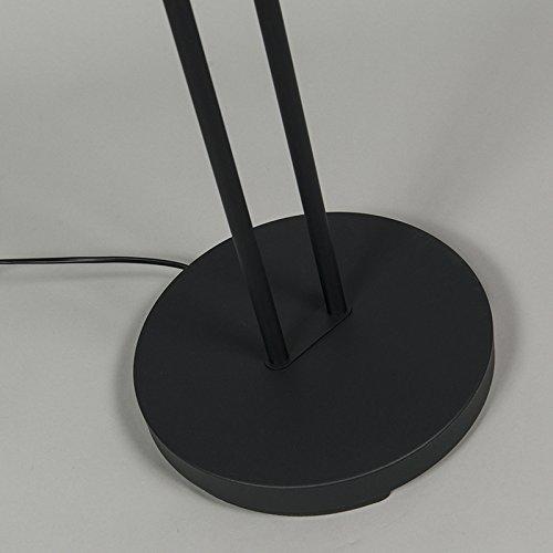 QAZQA Modern Stehleuchte / Stehlampe / Standleuchte / Lampe / Leuchte Divine schwarz Dimmer / Dimmbar / Innenbeleuchtung / Wohnzimmer / Schlafzimmer / Deckenfluter Metall Rund / Länglich / inklusive L - 9