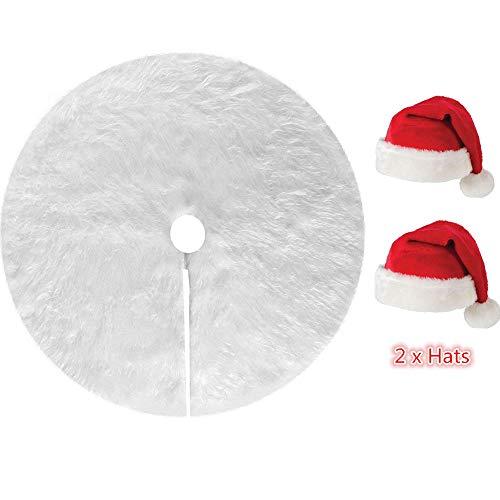 Myir Falda Árbol Navidad Blanco Felpa Delantal Decoracióndel