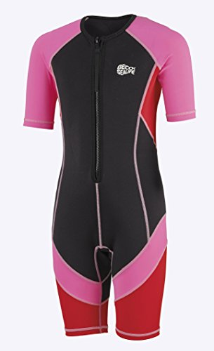 Beco Mädchen Sealife Schwimmanzug, Neoprenanzug UV Schutz Kinder Shorty, Pink, 128