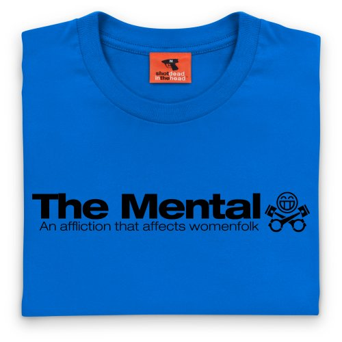 PistonHeads Mental T-Shirt, Herren Royalblau