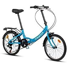 Moma Bikes First Class 2 AZ Bicicleta Plegable Urbana, 6V. Sillin Confort, Unisex