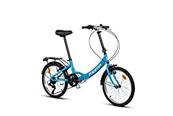 "Moma Bikes Erwachsene BIFCL2AUN Falträder First Class 20"", Aluminium, Shimano 6v, Sattelkomfort, blau, Unic Size"