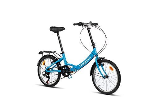Moma Bikes Plegable Ruedas 20' Shimano. Aluminio Bicicleta, Unisex Adulto