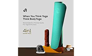 Premium Yoga Mat, BODYYOGA Eco Friendly Exercise Meditation Mat, TPE Material, Non Slip Mat For Yoga With Carry Strap & Workout Towel, 72'' x 24'' Yoga Practicing Mat ¼-Inch Thick, Integrated Anti-Tear Pilates Mat - For Men & Women - From BodyBand
