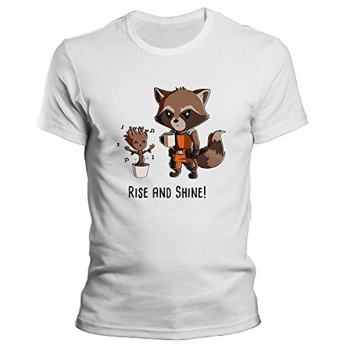 I AM GROOT Rise and Shine T-Shirt / Guardians of the Galaxy / Größe XS-4XL / Ideales Geschenk Weiß