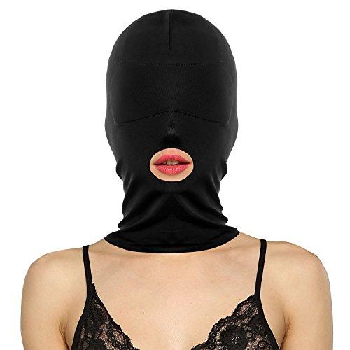 KingSnow Kopfmaske Bondage Fetisch SM Sex Spielzeug Maske, Knechtschaft Fetisch Maske Kopfmaske Strecken Maske BDSM Sexspielzeug (1-Mund Aussetzen)
