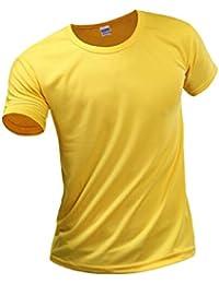 Hombres Corriendo Rapido Seco Wicking Camiseta De Manga Corta Ropa Blusas Top