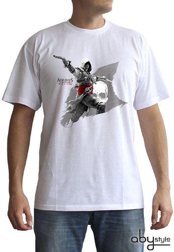 Creed Assassins Hoodie Kostüm - ABYstyle abystyleabytex239-xs Abysse Assassin 's Creed Edward Flagge kurzen Ärmeln Mann Basic T-Shirt (XS)