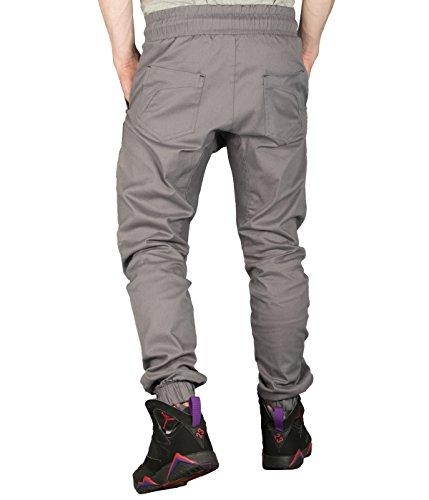 Betterstylz BradleyBZ PLN Chino-Jogger Pantalon Chino élégant Homme 3 couleurs (S-XXL) Gris