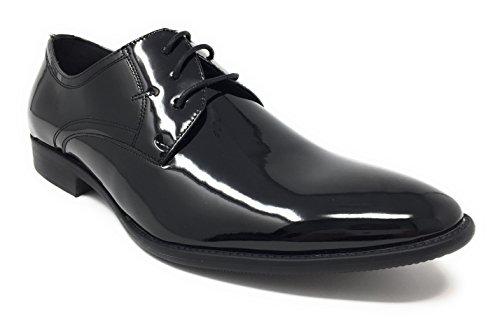 Smokies Edward Smoking Schuhe Herren Hochzeitsschuhe schwarz Lack Leder Innenfutter (41)