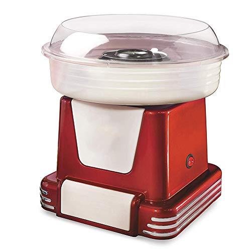 MLL Zuckerwattemaschine für Zuhause mit Zubehör Retro Cotton Candy Machine für Kinder Party 450 Watt [Rot Weiß]