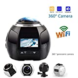 YUN CAMERA@ 360 Grad Panorama Kamera 3D VR Live Video Vollansicht Aktion Sport Kamera 220 Weitwinkel Wasserdichte, 4K-Video, Modell: V1, Weiß