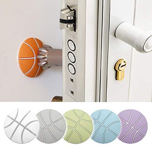 DYSS 6 Stück Silikon Wandschutz selbstklebend Türstopper Türgriff Stoßstangenschutz Stopper Gummi Stopper