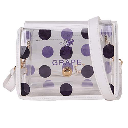 Mitlfuny handbemalte Ledertasche, Schultertasche, Geschenk, Handgefertigte Tasche,Damenmode Transparente Umhängetasche Gelee Messenger Bag Solid Color Handtasche