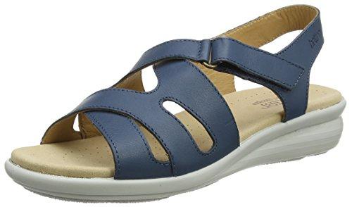 Hotter CANDCE - Sandalias con Punta Abierta de Cuero Mujer, Color Azul, Talla 41