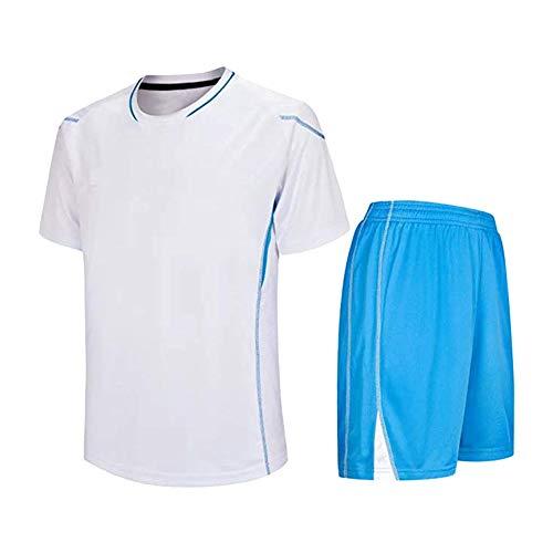 Haodasi Kinder Erwachsene Fußball Anzug - Team Training Wettbewerb T-Shirt & Shorts Set Im Freien Kostüm Soccer Jerseys Uniform (Kostüm Kind Fußball)