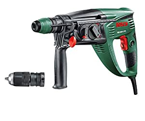 Bosch DIY Bohrhammer PBH 3000-2 FRE, SDS Bohrfutter, Flachmeißel, Tiefenanschlag, Zusatzhandgriff, Koffer (750 W, Bohr-Ø Beton 26 mm)