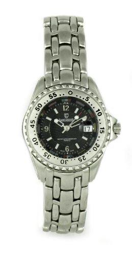 Lancaster Orologio 0096S - Reloj analógico de mujer de cuarzo con correa de acero inoxidable plateada