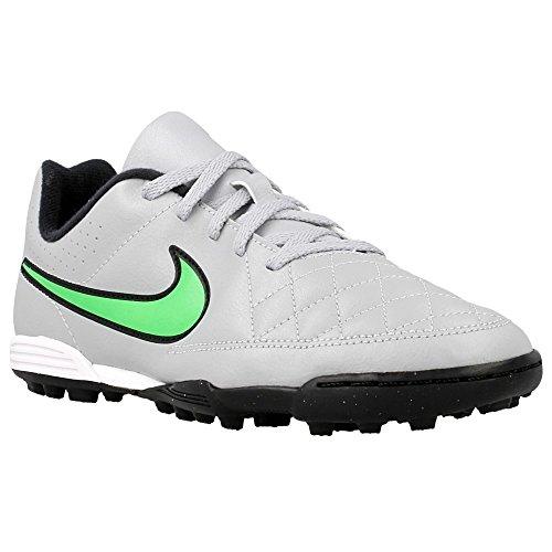 Nike JR Tiempo Rio II TF Kinder Fussballschuhe wolf grey-green strike-black-black - 38,5