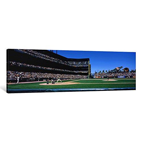 icanvasart 1Stück USA, Kalifornien, San Francisco, SBC Ballpark Spectator Watching the Baseball Game in the Stadium Leinwanddruck, Panoramabilder, 1,5, 36von 12Zoll