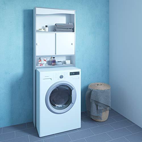 Symbiosis click, mobile per lavatrice, bianco (bianco/grigio), 177 x 64.3 x 19.2 cm