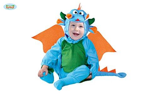 KINDERKOSTÜM - DRACHEN - Größe 82-83 cm (6-12 Monate), Märchen Babys Schloß Ritter (Des Kleinkind Kostüme Ritter Drachen)