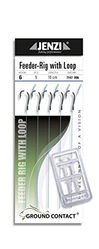 5 Stück Method Feeder - Vorfächer / Rig Hakengröße 6