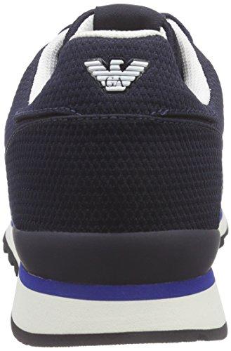 Armani Jeans C650511, Sneakers basses homme Bleu - Blau (BLU - BLUE 35)