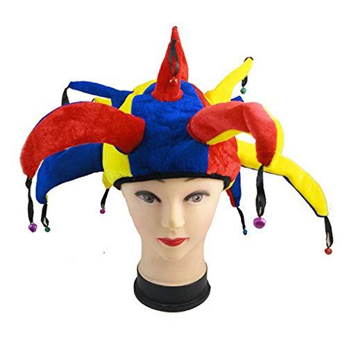 Einfach Holloween Kostüm - ysister Narrenkappe Clown Hut Lustige Multicolor Jester Cap Karneval Holloween Party Cosplay Zubehör für Karneval, Halloween oder Themenpartys