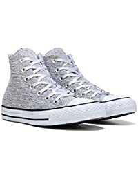 952a6c9a2f Converse Womens All Star Sparkle Knit Hi 553411F (5.5, Black/White/Black