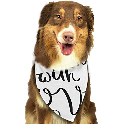 Gxdchfj Do All Things with Love Fashion Dog Bandana Pet Accessories Easy Wash Scarf