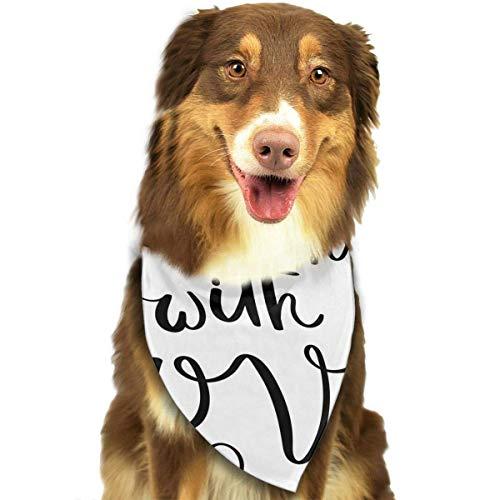Gxdchfj Do All Things with Love Fashion Dog Bandana Pet Accessories Easy Wash Scarf (Diy Kostüme Hawaiian)