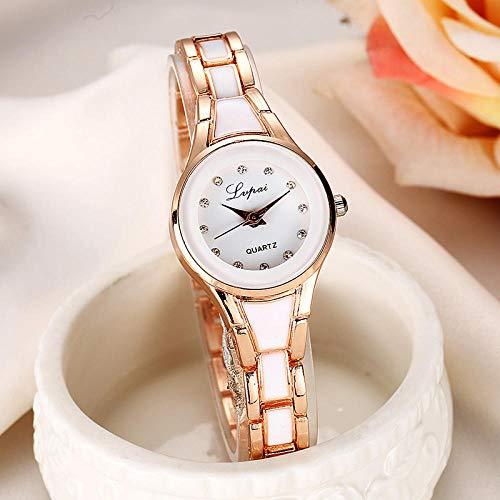 QWRjj Reloj de Pulsera Reloj de Mujer Reloj de Cuarzo de Moda Reloj de Mujer Reloj de Malla...