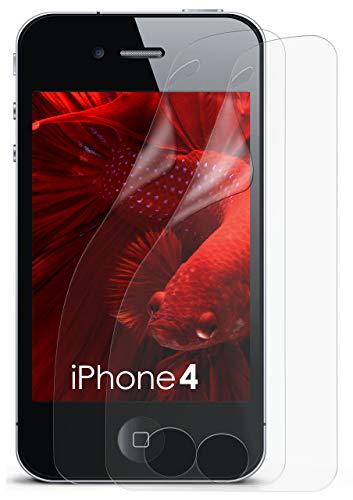 zfolie Matt Display Schutz [Anti-Reflex] Screen Protector Fingerprint Handy-Folie Matte Displayschutz-Folie für iPhone 4/4S Displayfolie ()
