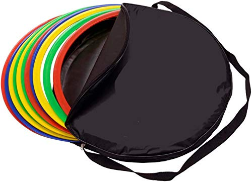 Taktifol Koordinationsringe-Set 12 Ringe inkl. Tasche | Training für Fußball | Agility für Hunde