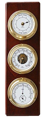 Fischer Wetterstation/Wetterwarte mit Tiden-Uhr, Barometer, Hygrometer/Thermometer -