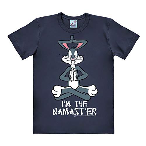 8db68f2cc2a49 Logoshirt - Looney Tunes - Bugs Bunny - Namaster - Camiseta Hombre - Gris -  Diseño