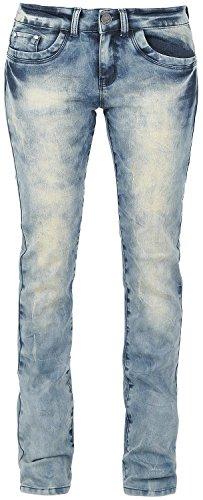 Black Premium by EMP Bleached Grace (Boot-Cut) Jeans donna blu W36L34
