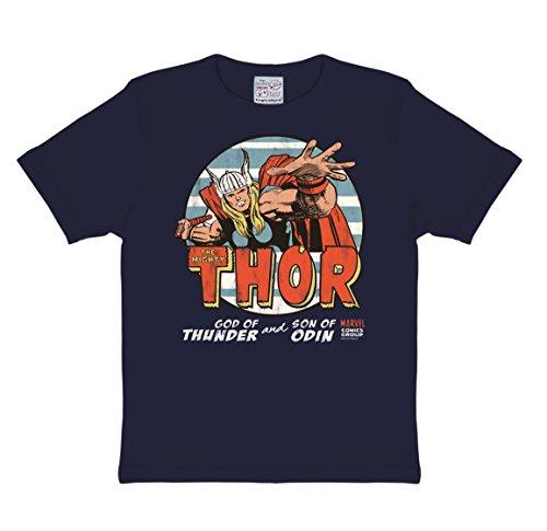 ty Thor T-Shirt Kinder Jungen - dunkelblau - Lizenziertes Originaldesign - LOGOSHIRT, Größe 80/86, 18 Monate (Thor Kostüm 18 Monate)