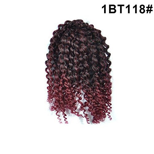 Rokoo 3Bunch / Set Fashion Sexy Frauen Perücken Kleine Curly Wavy Cosplay Bob Haar Afro Kinky Curly Mali Damen Mädchen Fluffy Perücke (Mädchen Perücken Kleines)