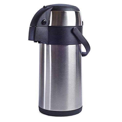 Livivo Edelstahl-Thermoskanne / Pumpkanne, heißer Tee/Kaffeekanne, geeignet für heiße und kalte...