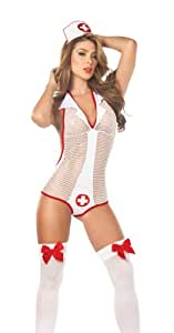 Espiral 6173 Costume Infirmière/Body/Coiffe Taille S