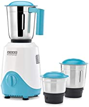 USHA RapidMix 500-Watt Copper Motor Mixer Grinder with 3 Jars (Sea Green/White)