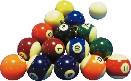 Juego de bolas de billar dise/ño de rayas y lisas 5/cm