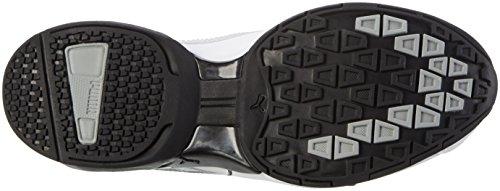 Puma Tazon 6 Fm, Scarpe da Corsa Uomo Bianco (White-silver-black)