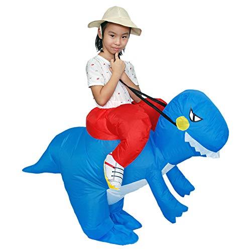 Hallowmax Kinder Dinosaurier Reiten Unisex Aufblasbares Kostüm Carry-Me Halloween Karneval