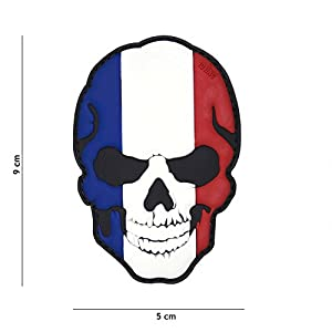 Patch 3D PVC Skull Tête de Mort France / Cosplay / Airsoft / Camouflage