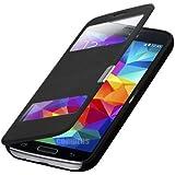Flip Cover Samsung Galaxy S5 Mini SM-G800 Schwarz