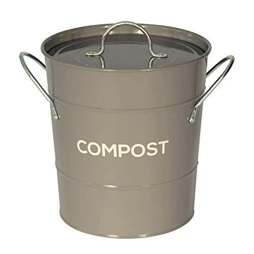Cubo reciclaje basura metal cocina